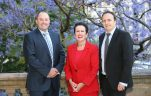 Paul Wall, BBP Chair (DEXUS Property Group), Lord Mayor Clover Moore and Paul Edwards, outgoing BBP Chair (Mirvac)